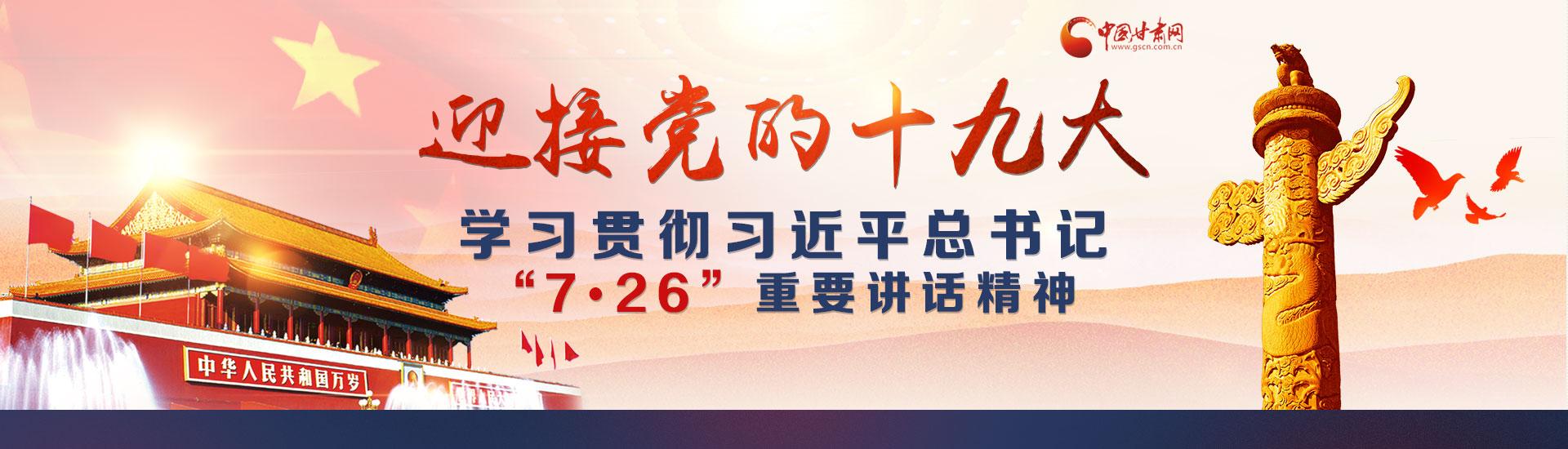 """迎接党的十九大 学习贯彻习近平总书记""""7.26""""重要讲话精神"""
